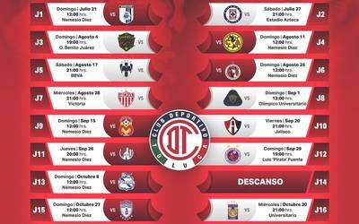 Liga Bbva Calendario 2019.Duro Arranque De Apertura Para El Diablo El Sol De Toluca